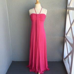 BCBGMAXAZRIA Pink Maxi Dress Size S